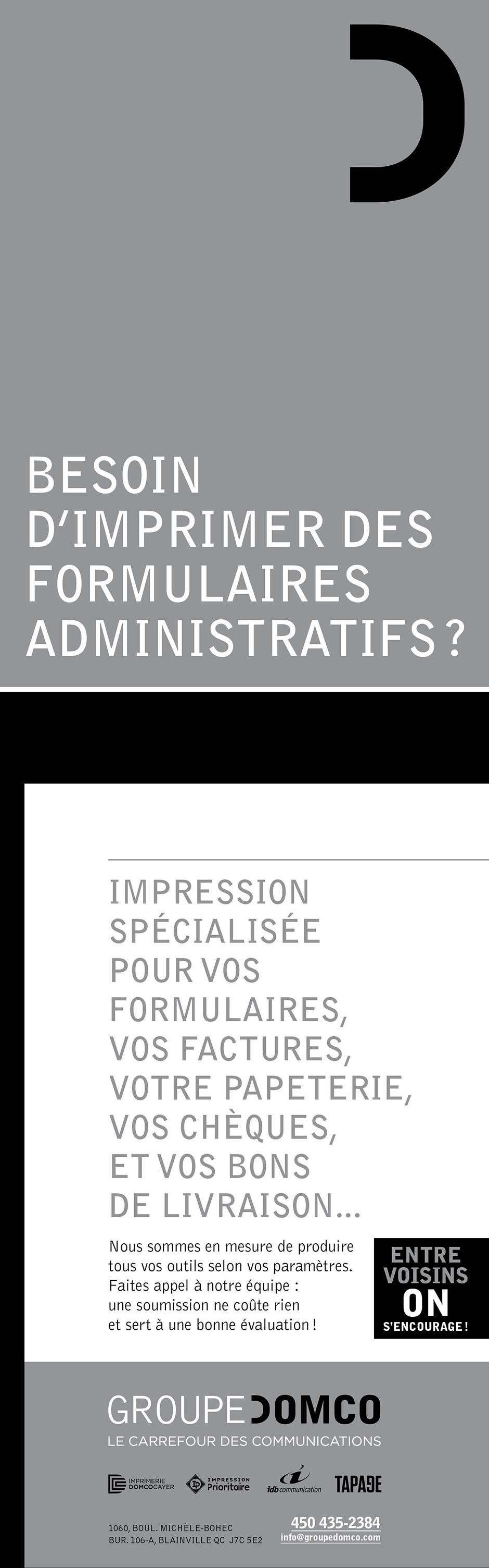 Besoin d'imprimer des formulaires administratifs?